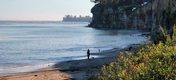 Surf casting for santa cruz stripers for Santa cruz fishing spots